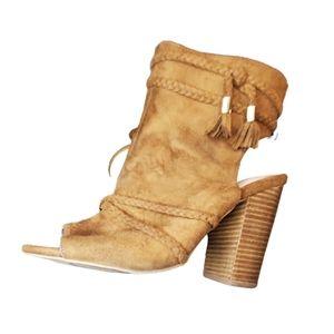 Torrid Suede peep toe sandal 10 wide